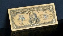 《☆》AMAZING ☆ 《1899 SILVER CERTIFICATE》 INDIAN CHIEF  $5 Rep.*Banknote 《☆》 - $16.79