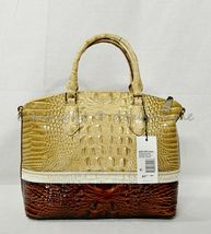 NWT Brahmin Duxbury Leather Satchel/Shoulder Bag in Honeycomb Leroy image 6