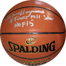 Spencer Haywood signed NBA Indoor/Outdoor Spalding Basketball dual 4 Tim... - $88.95
