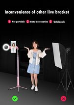 Selfie Stick LED Ring Light Stand 1.7M Extendable Monopod Universal Phones Mount image 7