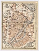 1925 ORIGINAL VINTAGE MAP OF FREIE STADT DANZIG GDANSK POLAND GERMANY - $26.93