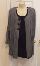 NWT $139 frederick's of hollywood 2 pc.dress & Long Jacket Made in Usa size 9/10 - $29.69