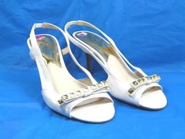 Michael Kors Woman Size 8.5 White Heels Slingback Sandals - $28.71