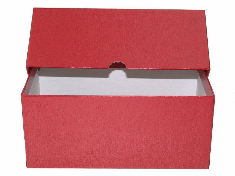 Guardhouse Modern Size Currency Storage Box, Red - 7.5 x 4.25 x 3.25 image 5