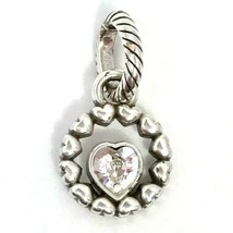 Brighton Ring of Love Charm, Clear Stone, J98852, Silver Finish, New - $13.29
