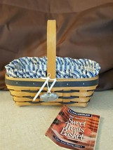 Longaberger Sweetheart SWEET TREATS Basket Blue Accent Weave Liner Prote... - $24.00