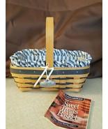 Longaberger Sweetheart SWEET TREATS Basket Blue Accent Weave Liner Prote... - $24.00