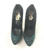 Vince Camuto Women's High Heels Green Sparkle 8 - $39.59