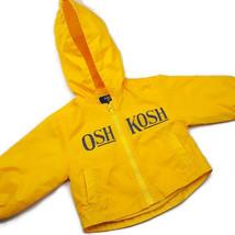Oshkosh B'gosh Boys Jacket 12 Months Windbreaker Hoodie Yellow Pockets Zipper - $13.49