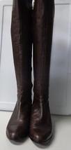 MICHAEL KORS Dark Brown Edgy Zip Up Knee Hight ... - $124.29