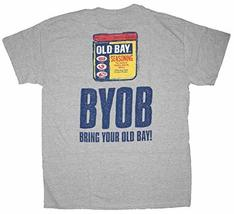 Men's Officially Licensed BYOB Bring Your Old Bay T-Shirt(Small, Grey) - $20.29