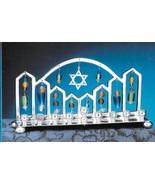 Rosenthal Chanukah Hanukkah holiday Shul Menorah silverplate candle holder  - $47.77