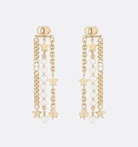 AUTH Christian Dior 2019 DANSEUSE ETOILE MULTI STRAND STAR EARRINGS PEAR... - $429.99