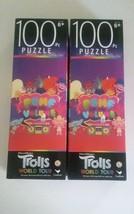 DreamWorks Trolls World Tour Jigsaw Puzzle Pump Up the Volume 2 Pk 100 P... - $19.79