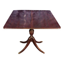 Mahogany Sheraton Style Flip Top Card Game Dining Table Console Antique ... - $3,355.80