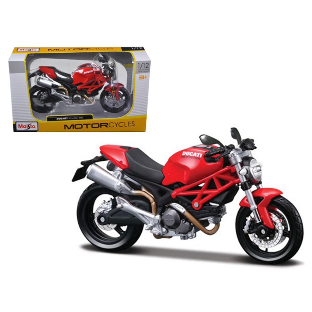 Ducati Monster 696 Red Motorcycle 1/12 Diecast Model by Maisto 31189r