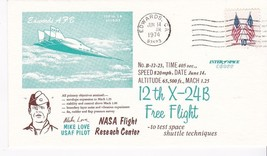 X-24B 12th FREE FLIGHT PILOT MIKE LOVE EDWARDS, CA JUNE 14, 1974 - $1.98