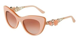 Dolce & Gabbana Metal FLOWER LACE Pearl Nude Pink Cat Eye Sunglasses DG... - $144.63