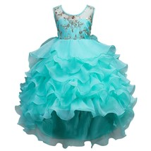 Girl Ball Dress Princess Dress Wedding Pageant Party Turquoise Green 14-15 Year - $66.30