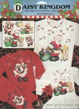 Daisy Kingdom No Sew Fabric Applique 6336 Deer Santa Christmas Craft Brand New  - $10.49