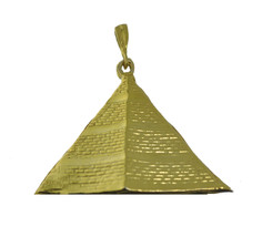 New Egyptian Great Pyramid jewelry 24K gold plated charm Egypt Large - $54.24