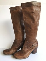 Frye Womes Rory Scrunch Knee High Boots size 6M Cognac EUC - $111.02