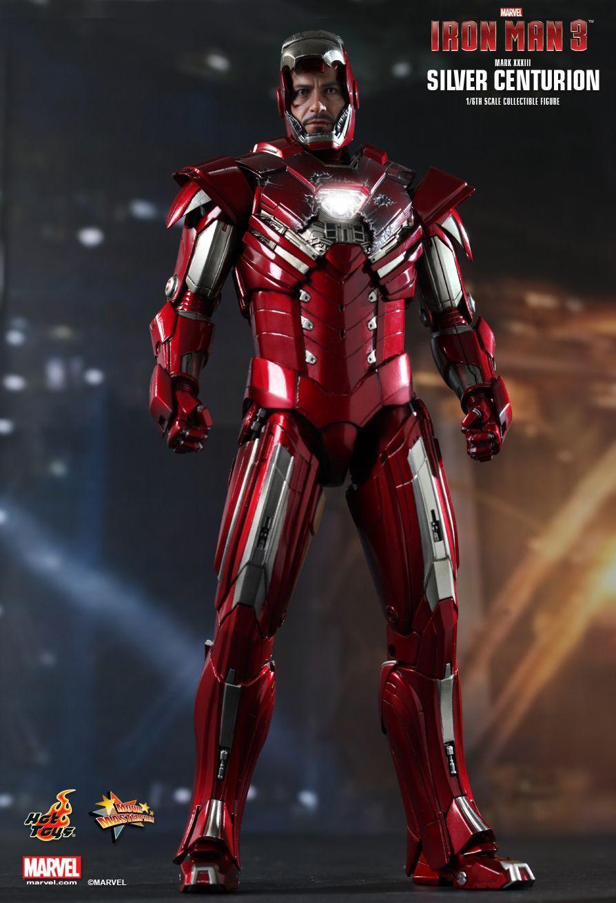 HOT TOYS MARVEL IRON MAN 3 1/6 MARK XXXIII Silver Centurion Action Figure