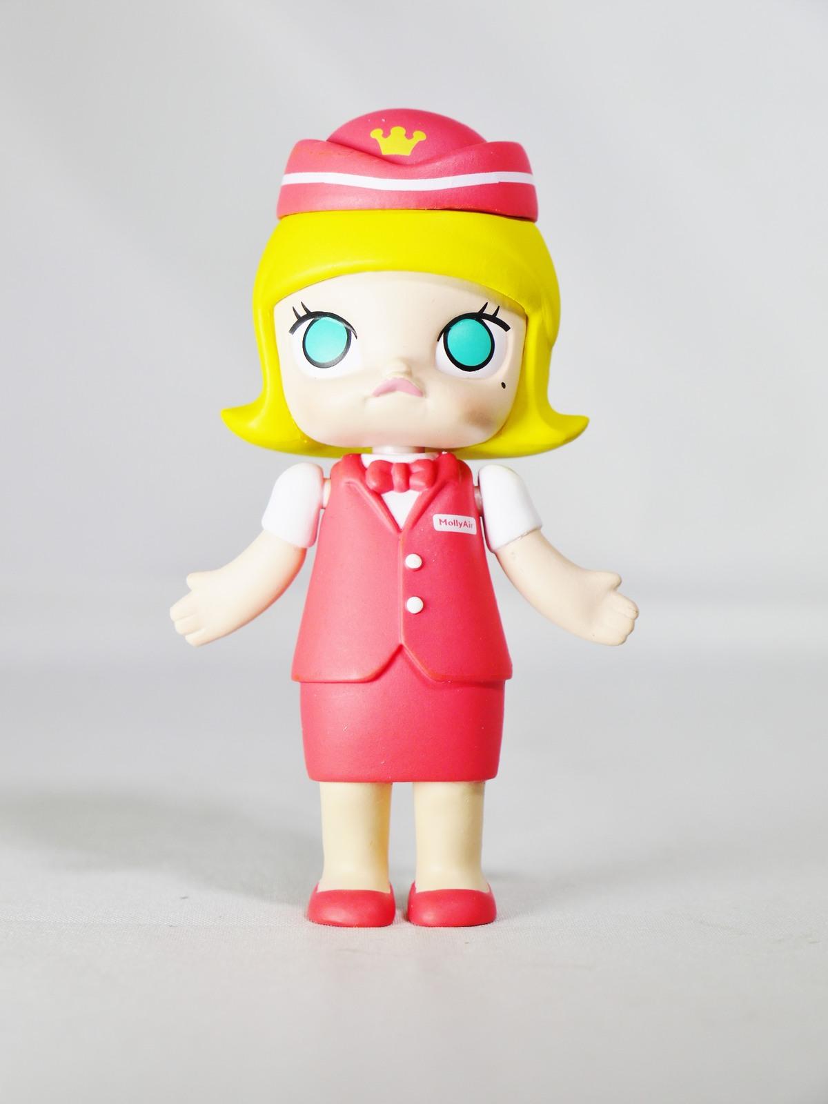 Kennyswork pop mart molly career stewardess red   01