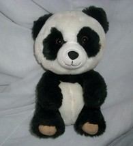 BUILD A BEAR SMALLFRYS BABY BLACK WHITE PANDA STUFFED ANIMAL PLUSH TOY BABW - $9.50