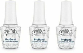 Harmony Gelish UV Gel 1140003 Pro Bond 0.5oz Acid Free Primer x 3 Bottles - $25.73