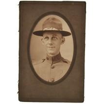 Antique WWI WW1 U.S. Army Soldier Portrait Photograph - $49.50