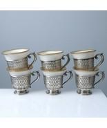 c1920 Lenox Porcelain Sterling Demitasse Cup Set - $275.83