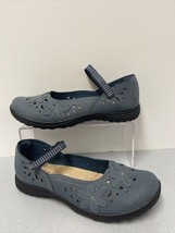 Women's Earth Spirit Blue Strappy Mary Jane Slip On Flats Loafers Sz 8 1/2 - $18.51