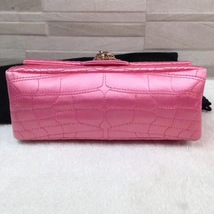 Authentic Chanel Classic 2.55 Reissue Mini Double Flap Bag Pink Silk GHW image 5