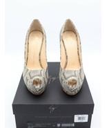 NIB Giuseppe Zanotti Sharon Snakeskin Peep Toe Platform Pumps Heels 11 41 $775 - $375.00