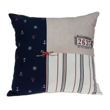 "20"" x 7"" x 20"" Nautical Multicolor Pillow Cover With Poly Insert - $42.98"