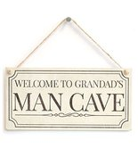 Meijiafei Welcome To Grandads Man Cave - Fun Traditional Design Style Si... - $12.86