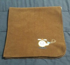 "CIRCO Target brown HELICOPTER  fleece baby boy BLANKET 30"" x 30"" - $175,16 MXN"