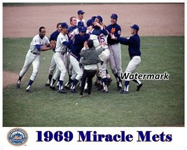 MLB 1969 World Champion New York Mets Mound Celebration Color 8 X 10 Photo  - $6.99