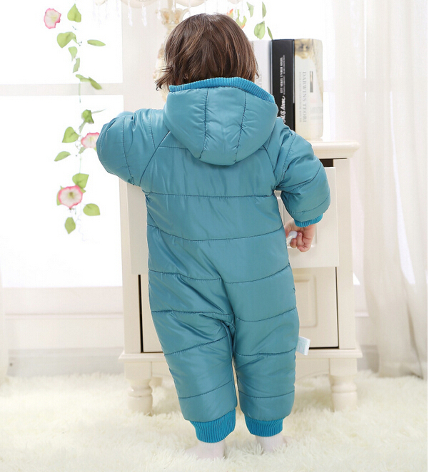 Baby Kid Toddler Boys Girls Winter Padded Onesie Romper Jumpsuit Outfit Snowsuit image 11