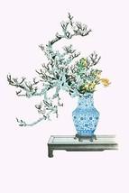 Yamanashi & Takejimayuri (Wild Pear and Lily) in a Blue and white Porcelain Vase - $19.99+