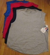 Men's Muscle Shooter T-Shirt  Fruit of The Loom 6 Pc 4 Color 100% Cotton... - $29.90