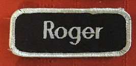 Roger name tag patch 1-3/8 X 3-3/8 - $4.50