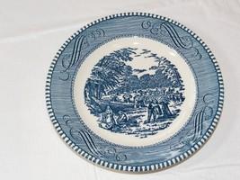 """Vintage Royal Currier & Ives Harvest Blue White 6 3/8"""" Bread & butter Pl... - $20.78"""