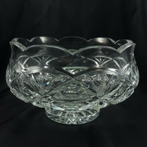 "Waterford Dublin Doors 7"" Footed Bowl Clear Cut Crystal Centerpiece - $84.88"