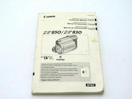 Canon ZR850 / ZR830 Camera Instruction Manual - $12.49