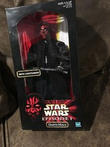 "Star Wars Phantom Menace Darth Maul w/ Lightsaber 12"" Action Collection ... - $37.62"