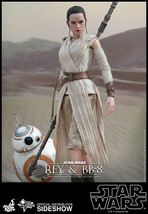 Hot Toys Star Wars: The Force Awakens Rey and BB-8 Sixth Scale Figure SO... - $494.95