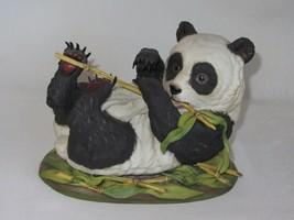 1974 Boehm Porcelain Figurine Figure Statue Giant Panda Cub Bear Bamboo ... - $156.81