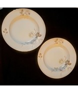 Johan Haviland Soup Bowl Lot Sweetheart Rose Gold Rim Bavaria Germany Bo... - $29.65